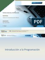 Unidad 5 - Introduccion a La Programación