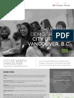 City of North Vancouver Immigrant Demographic Profile 2018