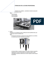 Equipos y Utencilios de La Cocina Profesional