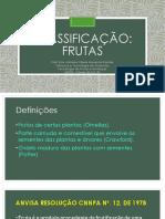 Classificação -  Frutas