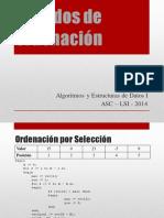 Unidad 5 Metodos de Ordenacion