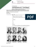 ¿Qué se conmemora el 1° de Mayo?