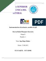 Instrumentación Refractómetro, Medidor de PH