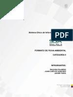 Formato de Ficha Ambiental - Fabrica de Mermelada
