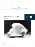 9 Variations on Things and Performance. André Lepecki