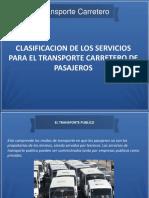 Clasificacion servicioa para transporte pasajeros