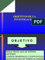 OBJETIVOS DE LA INVESTIGACIÓN.PREGRADO2017.ppt