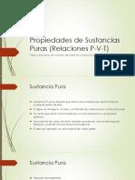 Propiedades de Sustancias Puras (Relaciones P-V-T)