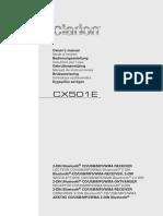 Clarion Cx501e Manual