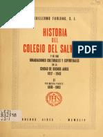 Historia Del Colegio Del Salvador T2 Vol 1 - Furlong