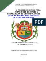 Directiva Viaticos 2015 MD CONCPECION