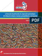La formación del profesorado y la comprensión epistemológica de la Educación Inclusiva