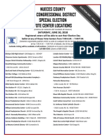 Special Election Vote Centers