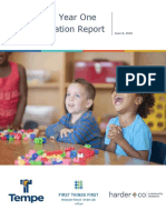 Tempe PRE Year One Implementation Report