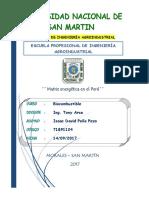 Primer Trabajo Sobre Matriz de Energia en El Peru