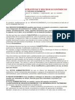 Actos Administrativos y Hechos Económicos