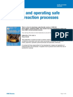 Designing and Operating Safe Chemical Reaction Processes