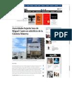 24-06-18 Autoridades bajarán lona de Miguel Castro en edificio de la Glorieta Minerva