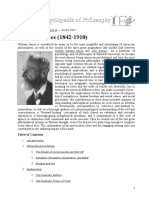 Internet Encyclopedia of Philosophy - William James