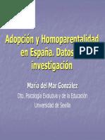 Adopción y Homoparentalidad en España. Datos de Investigación (María Del Mar González)