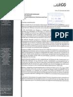Carta a Cancilleria peruana sobre situación en Nicaragua