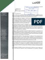 Carta a Embajada de Nicaragua