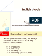 Vowels in english