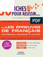 Les Epreuves de Francais