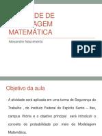 Atividade de Modelagem Matemática