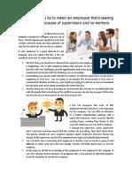How to Retain an Employee