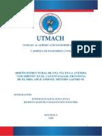 Proyecto de Pavimentos Pavimento Flexible Dota Maldonado