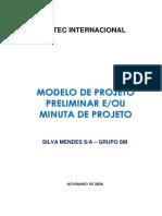 Projeto Preliminar - Modelo