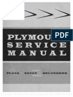 57' and 58' Plymouth Service Manual