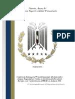 Historia y Leyes del Pentathlón Deportivo Militar Universitario año de 1952. PRIMERA PARTE