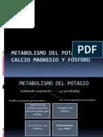 Metabolismo Del Potasio Calcio Magnesio y Fosforo