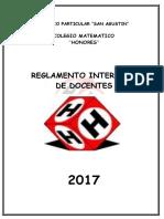 Reglamento Interno de Profesores -2017