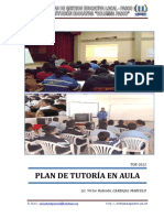 2) Plan de Tutoria de Aula