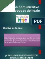 Situación Comunicativa y Propiedades Del Texto