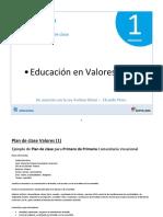 10 Plan de Clase - Valores 1ro Primaria