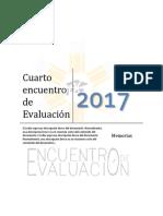 Memorias del 4to Encuentro de Evaluación en la ENP