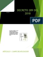 Decreto 289 Del
