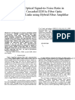 Enhancing Optical Signal-To-Noise Ratio in Terrestrial Cascaded EDFAs Fiber Optic Communication Links Using Hybrid Fiber Amplifier