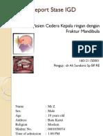 Head Injury - # Mandibula