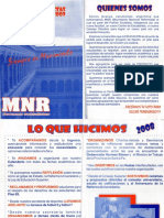 MNR (2009) - Volante Humanidades Elección