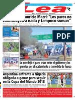 Periódico Lea Martes 26 de Junio Del 2018