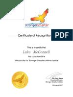 stronger smarter certificate