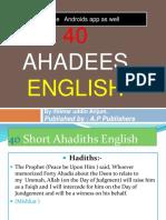 40 Ahadees by iftikhar uddin  Anjum