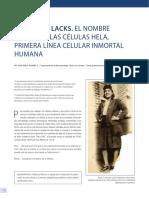 Henrietta Lacks El Nombre de La Celula Hela