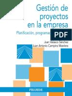 06PY004. Gestión de Proyectos en La Empresa Planificación, Programación y
