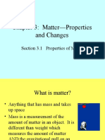 CH 3 Matter Properties and Changes